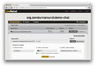 Delivery Manager LiveRebel continuous delivery production deployment