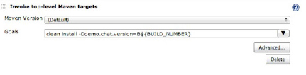 build job Maven invoke targets