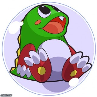 illustration of a lovely bubble with a cure dragon-ish creature inside that represents monads in java