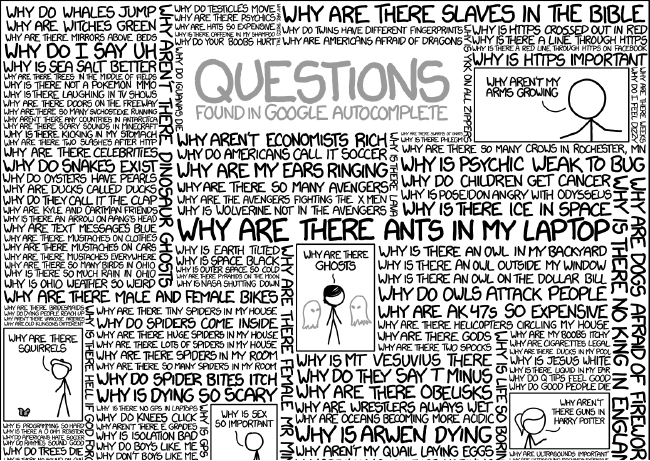 goodby comic that shows ridiculous questions found in google autocomplete