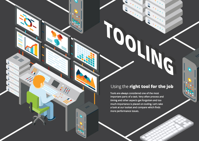 illustration for tooling section of Developer Productivity Report 2015