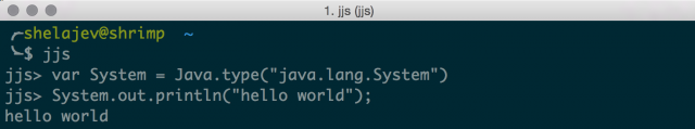 using jjs as java repl